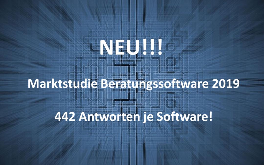 """Neue Marktstudie """"Beratungssoftware 2019"""" – umfangreich, aussagekräftig und praxisnah!"""
